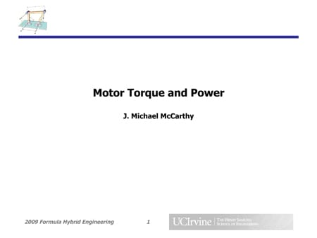 Motor Torque and Power