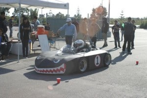 Another view of UCI's Delta CNG-Electric racecar