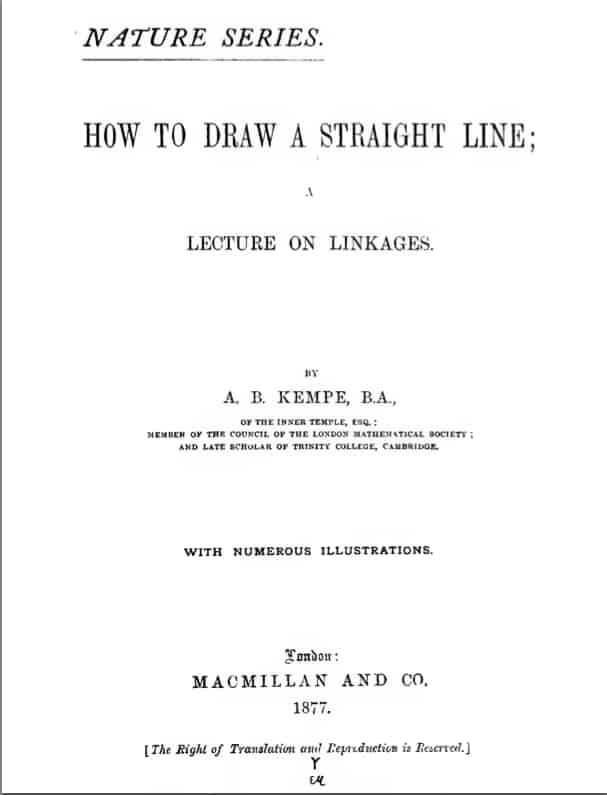 Kempe: How to draw a straight line