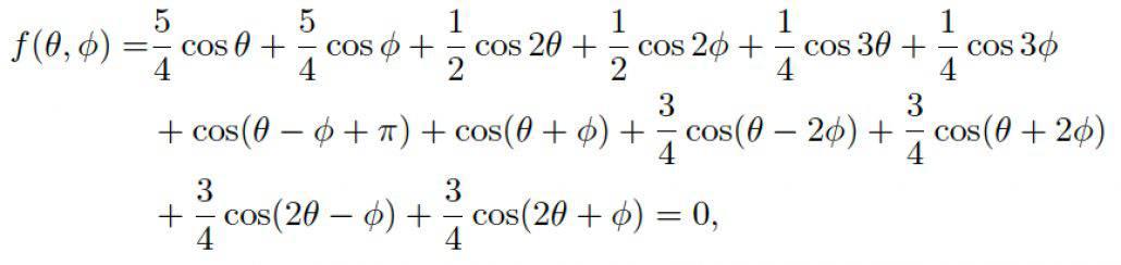 Elliptic cubic formula