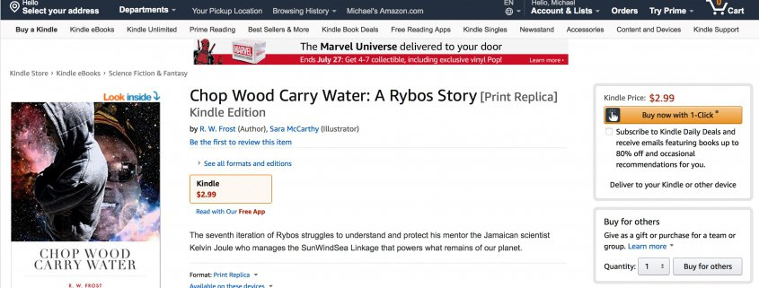 Chop Wood Carry Water on Amazon